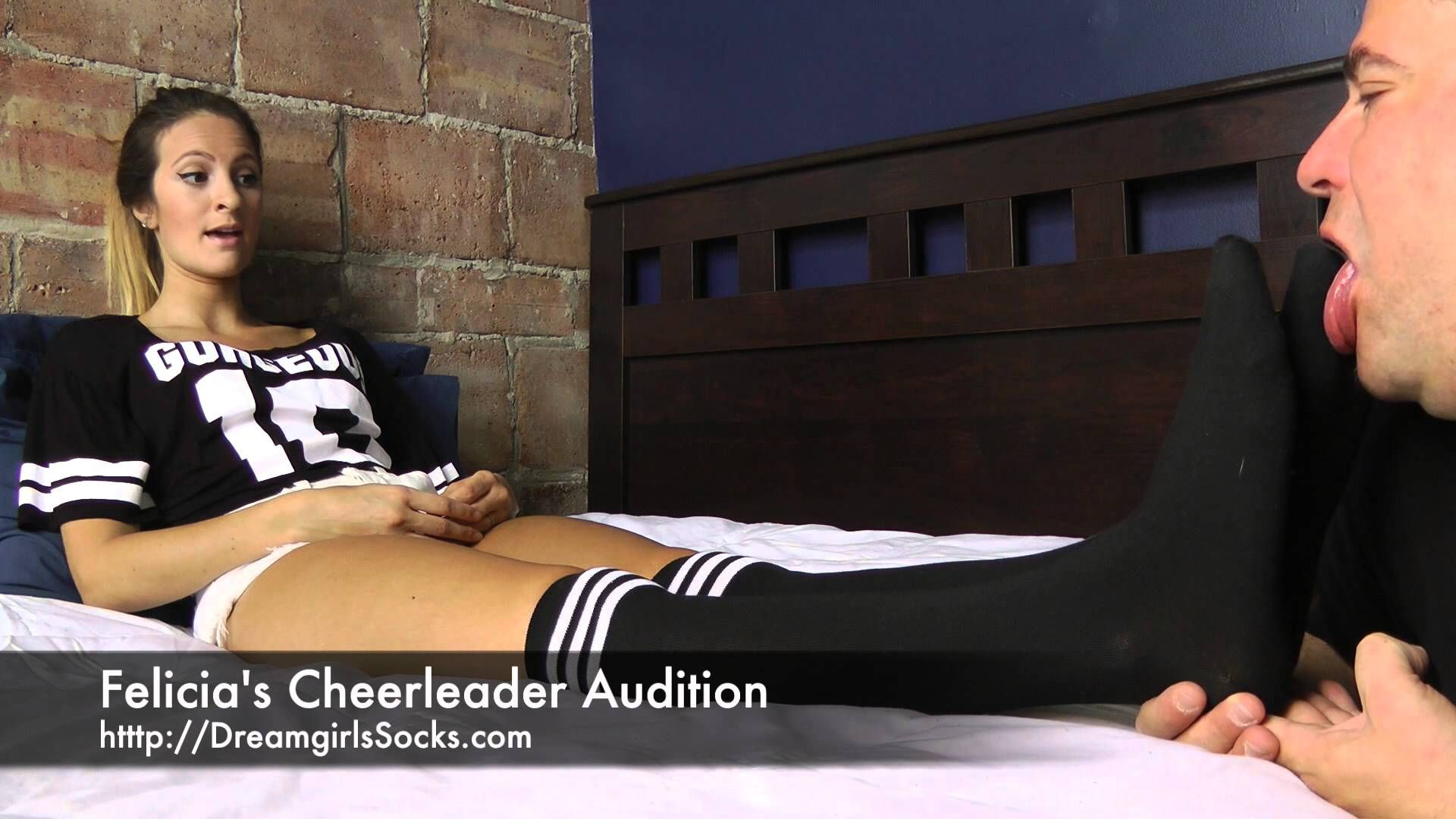 Felicia' Cheerleader Audition Foot Sock