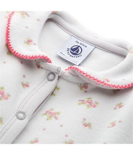 Baby-Strampler für Mädchen aus Nicki mit Blumenstrauß