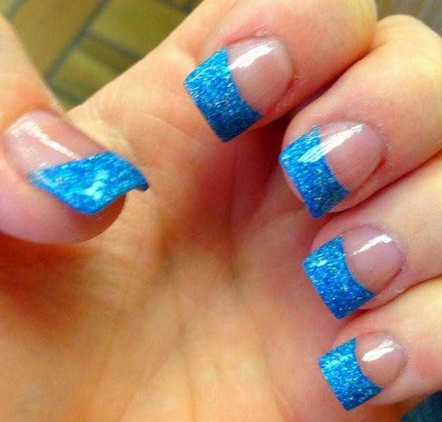 Nails Acrylic Nail Tips French Tip Acrylic Nails Blue Nails