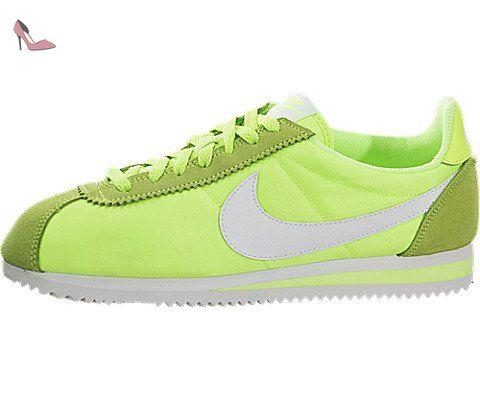 Wmns Nylon Classique Cortez - Chaussures De Sport Pour Femmes / Nike Vert 91ESdtqAE