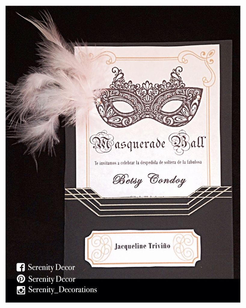 Masquerade bachelorette party invitations