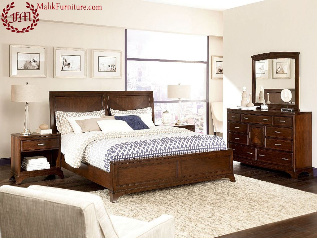Elegant wood modern master bedroom set feat wood grain cincinnati ohio - Bed New Design Modern Design New Malik Furniture House Of Modern