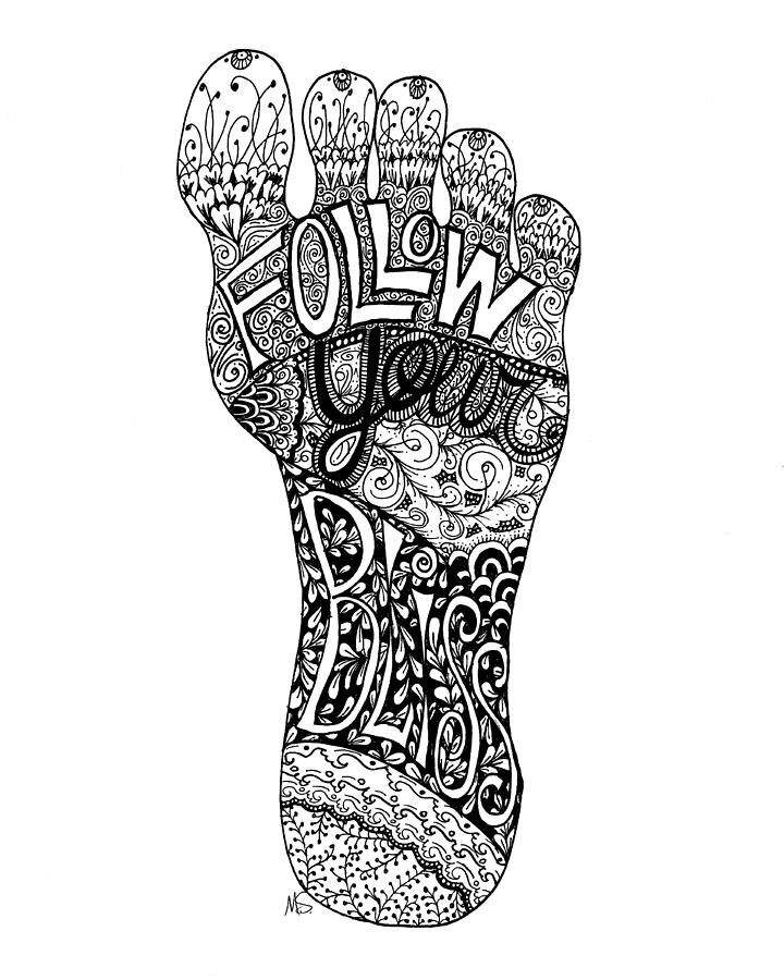 Follow Your Bliss - pen and ink drawing © Melissa Sherbon