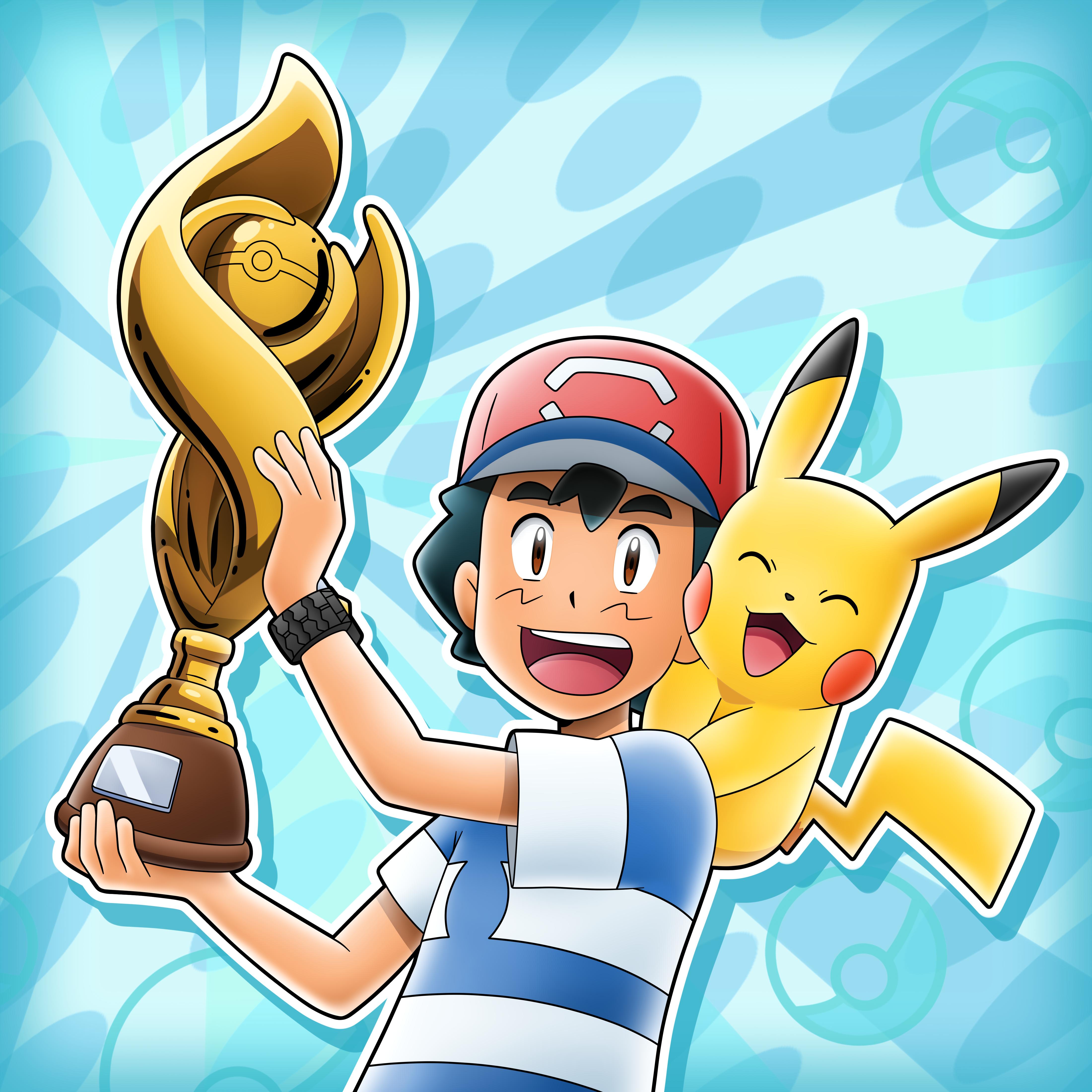 Champion Ash Ketchum by mcgmark on DeviantArt | Pokemon charizard, Ash  pokemon, Pokemon alola