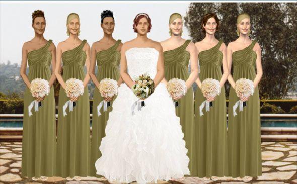Do Your Bridesmaids Dresses Match Dress Wedding Matching And Fern Green Davids Bridal