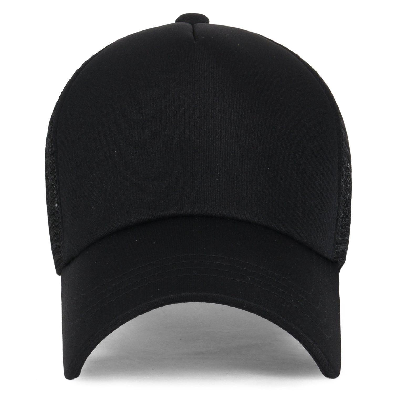 Plain Baseball Cap Simple Mesh Snapback Color Trucker Hat All Black Cu12ju4pdhd Plain Baseball Caps Plain Black Hat Baseball Cap