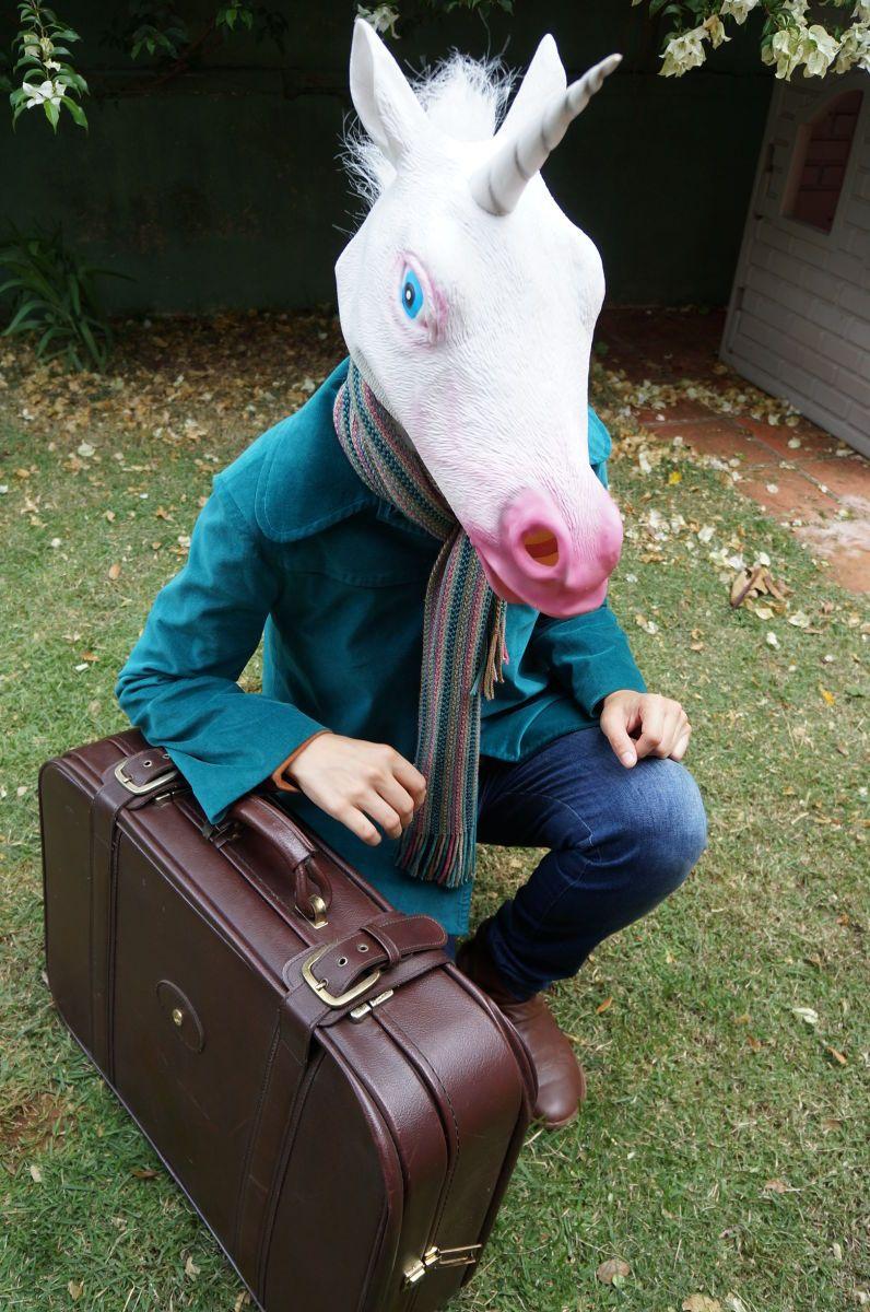 mala de viagem: unicorn vintage - vintage e retrô importado
