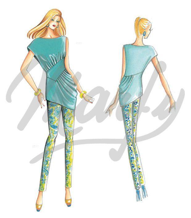 Patrón de costura Pantalones / Chándal 3241 | fashion club de cort y ...