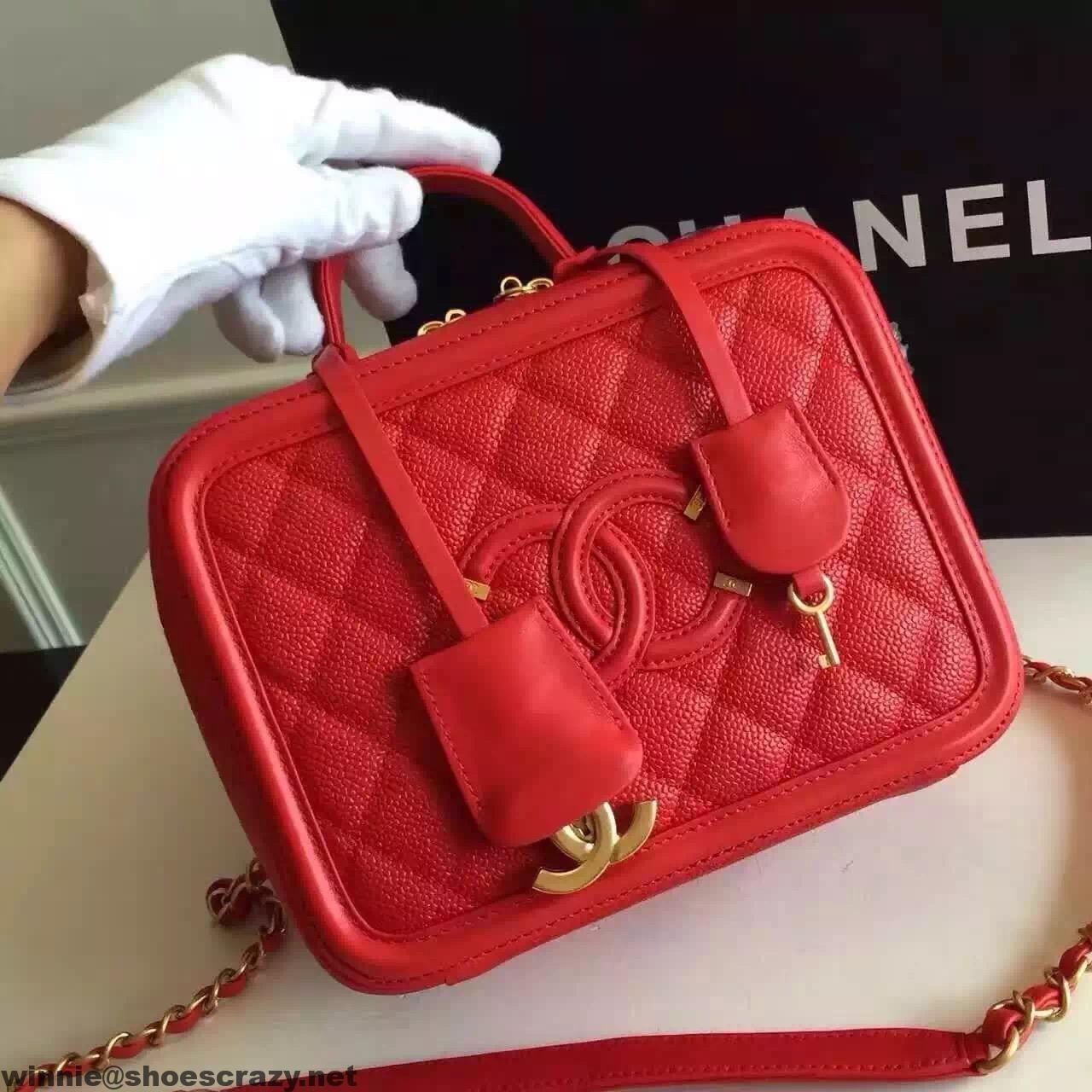 Chanel CC Filigree Small Vanity Case Small Bag