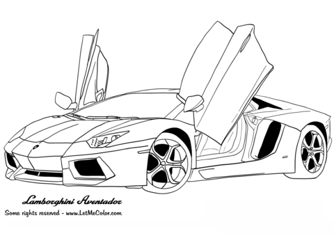 Lamborghini Aventador Coloring Page In 2020 Sports Coloring Pages Race Car Coloring Pages Cars Coloring Pages