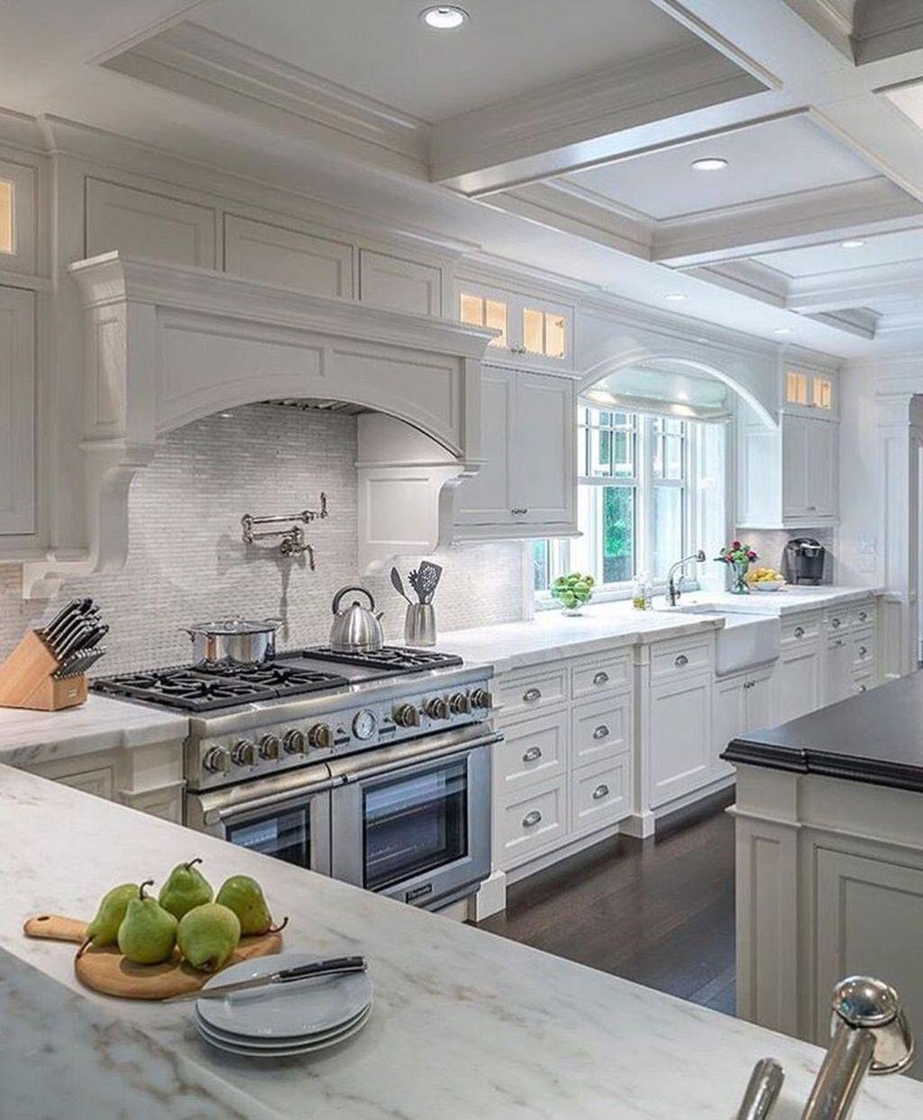 Nice 47 Best Ideas For Luxury White Kitchen Design Decor