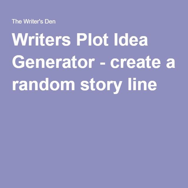 Writers Plot Idea Generator - create a random story line