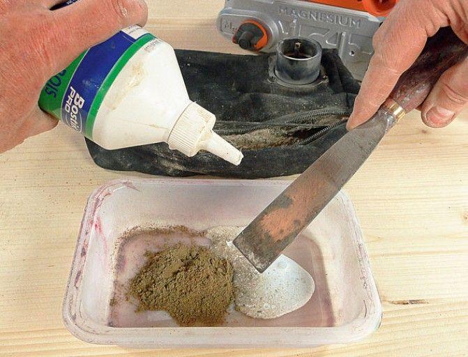 Comment fabriquer son mastic avec de la sciure