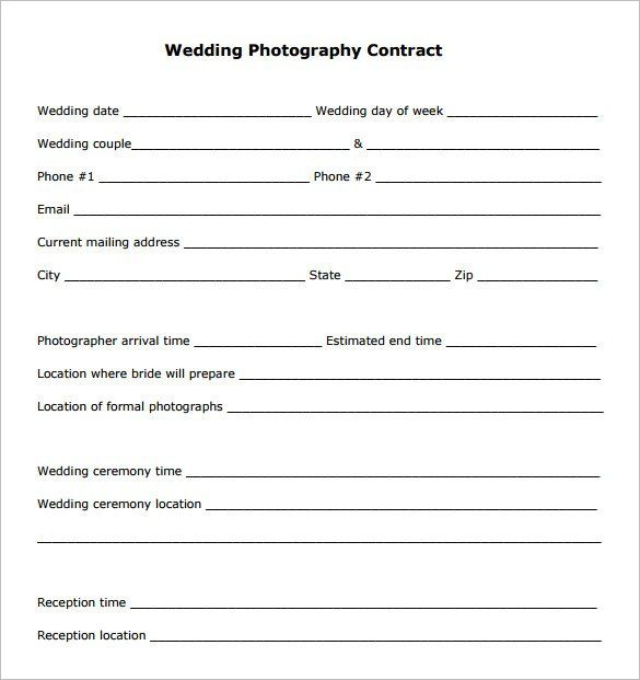 Corporate Photography Contract Template , 20+ Photography Contract