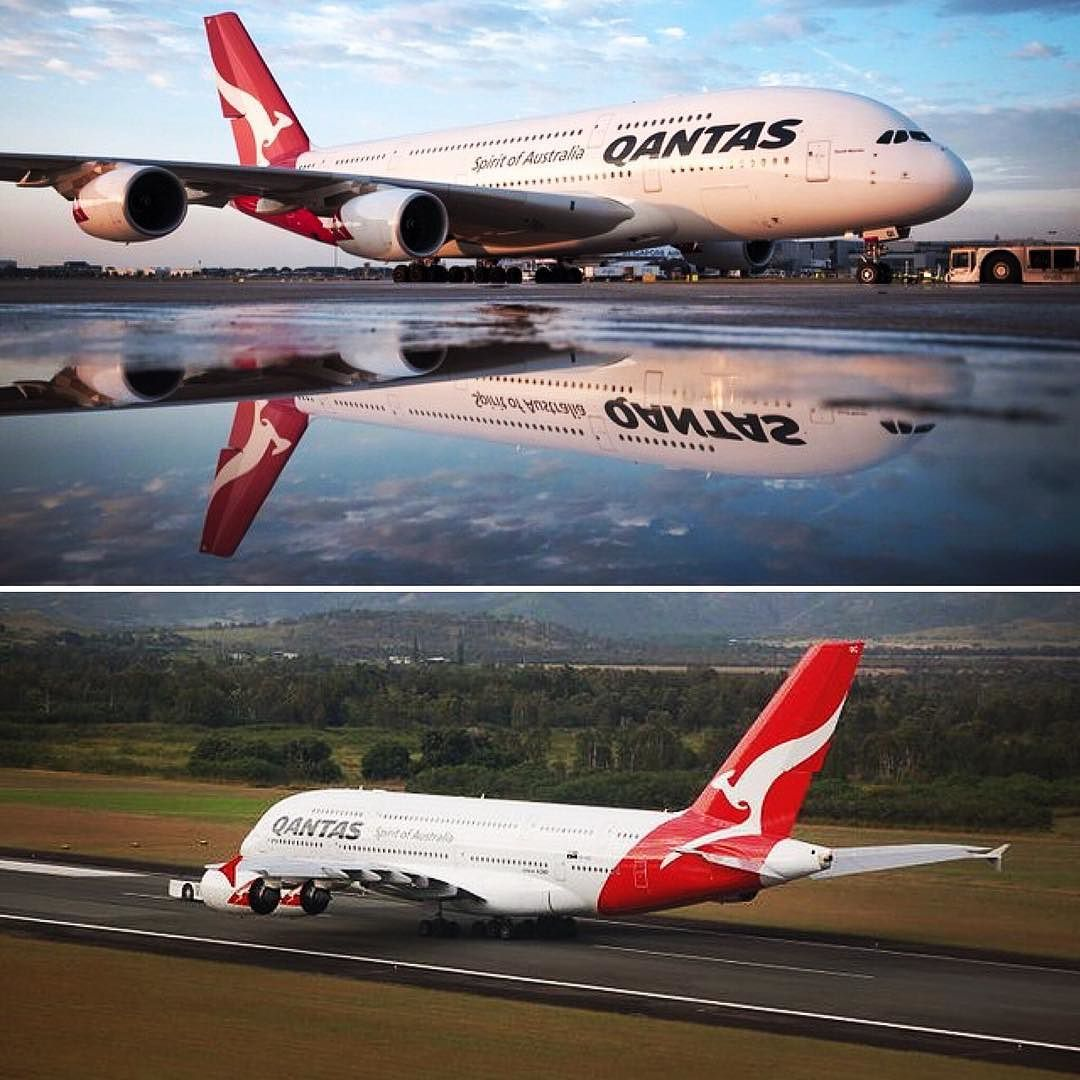 Qantas - Flag carrier airline of Australia and its largest