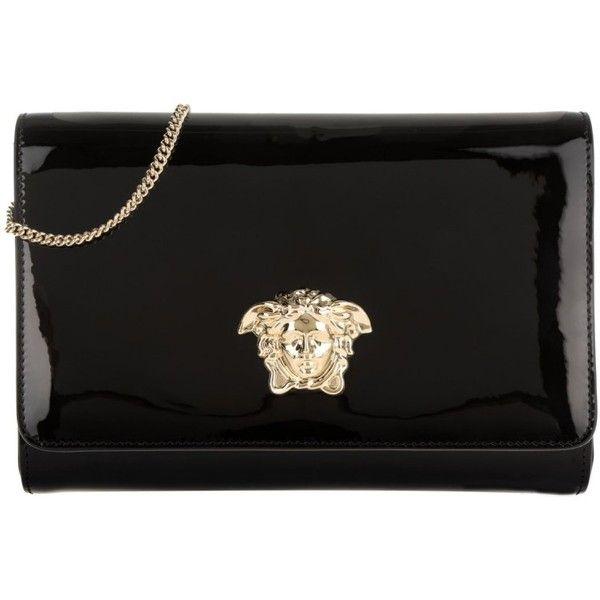 5db165aba5ae Versace Shoulder Bag - Medusa Clutch Patent Black - in black ...