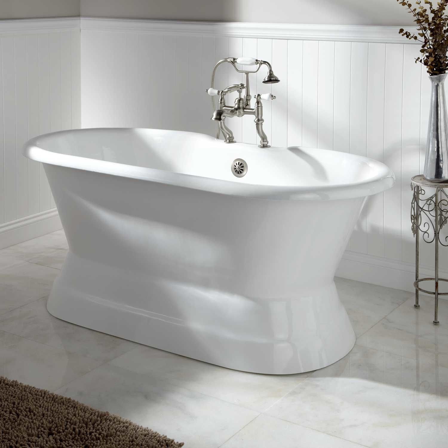 Henley Cast Iron Double-Ended Pedestal Tub | Pedestal tub, Tubs and Iron