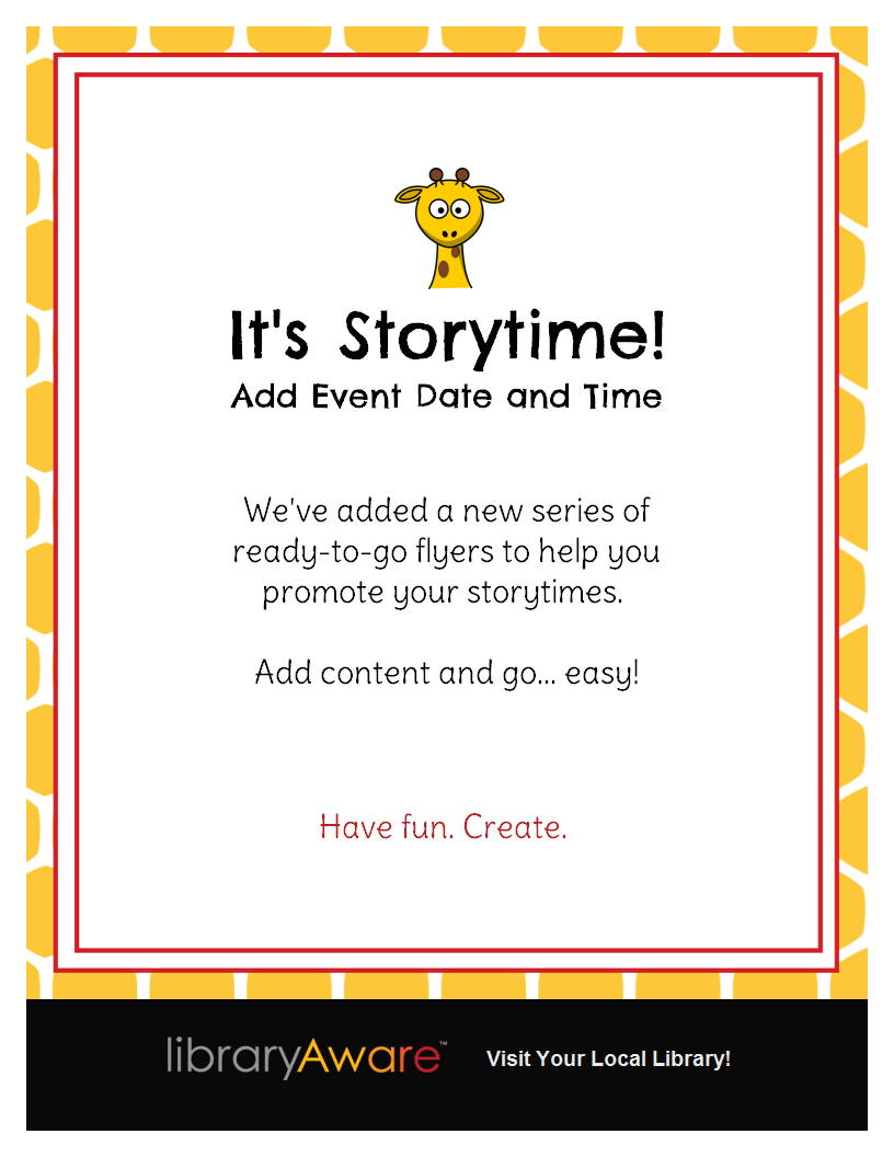 libraryaware s storytime flyer templates are a quick and fun way to