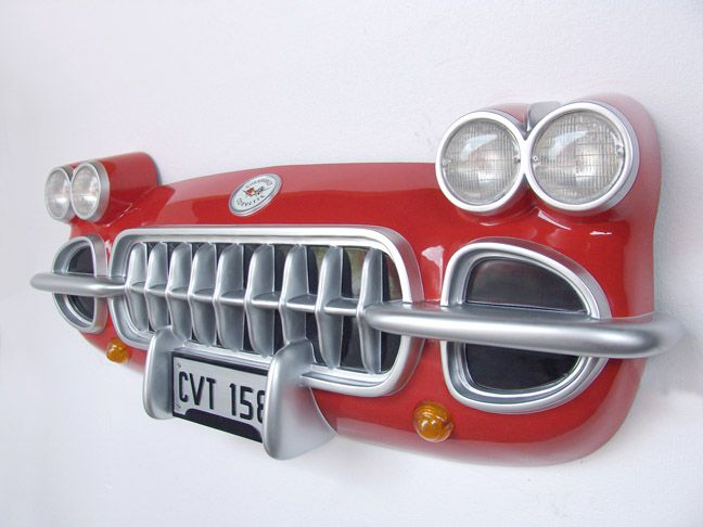 50 S Diner Wall Murals Corvette Car Front Decor Vette