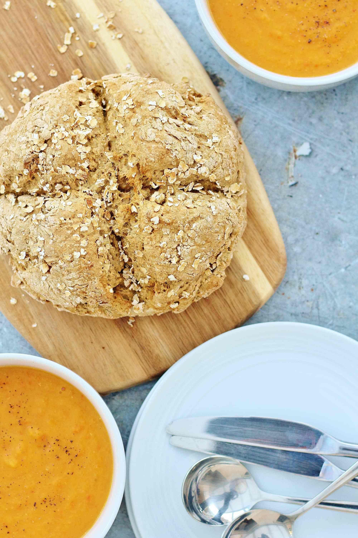 No Buttermilk Soda Bread Vegan Dairy Free Recipe Soda Bread Vegan Soda Dairy Free