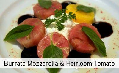 Burrata Mozzarella and Heirloom Tomato from - Chef Burlion Guillaum