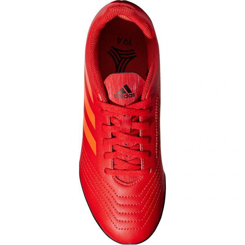 Buty Pilkarskie Adidas Predator 19 4 Tf Jr Cm8557 Czerwone Wielokolorowe Adidas Predator Football Boots Football Shoes