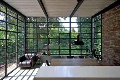 Blickrichtung Direkt In Den Garten   Anbau Esszimmer, Küche An Siedlerhaus  30er Jahre