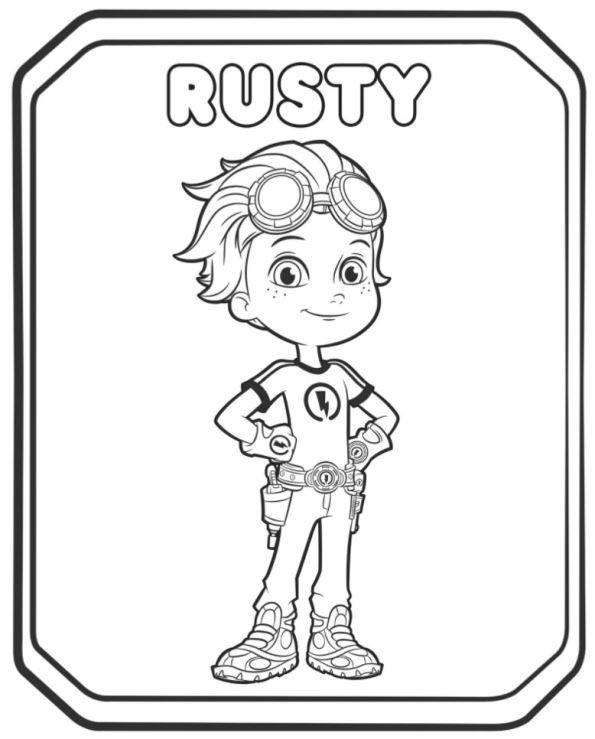Rusty Rivets Coloring Pages: Épinglé Par LMI KIDS Sur Rusty Rivets