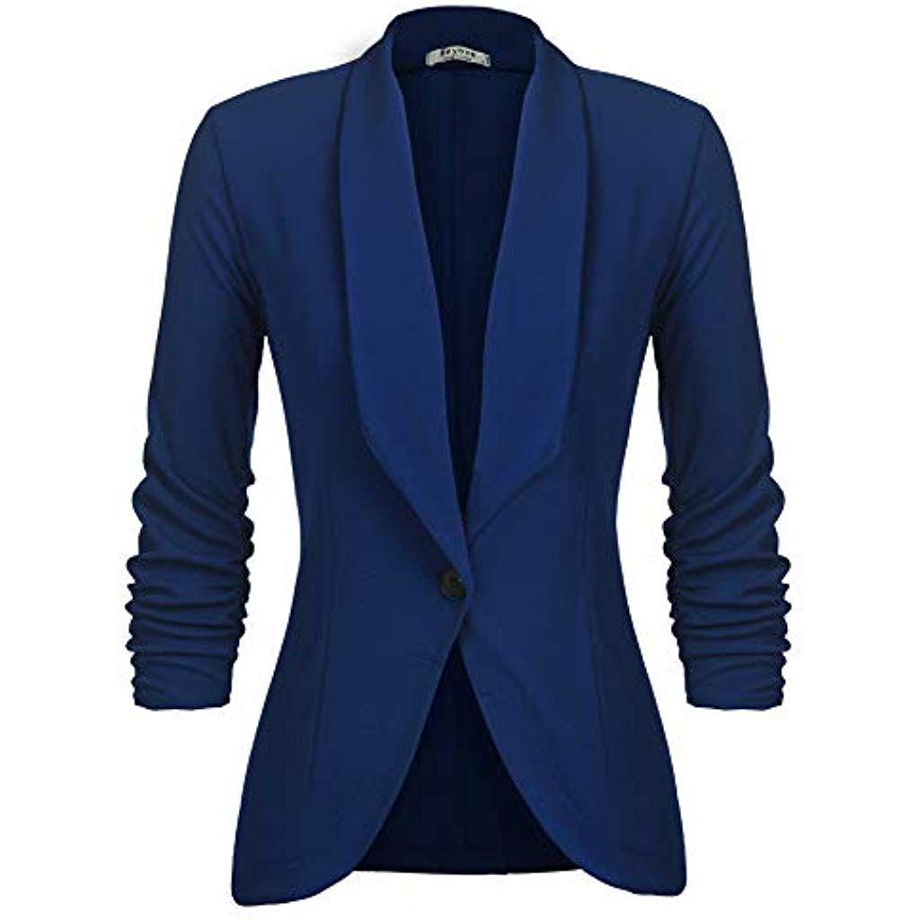 efe005ecbd6e78 Unibelle Damen Blazer Cardigan Dünn 3/4 Längere Elegant Leicht Bolero Jacke  Blazer Slim Fit