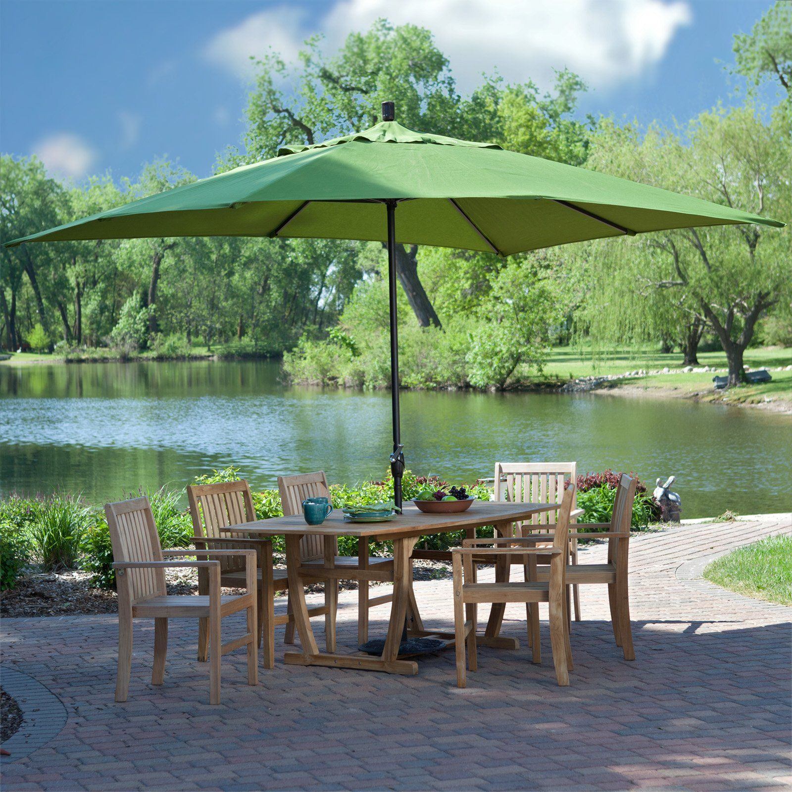Have To Have It. Coral Coast 8 X 11 Ft. Rectangle Patio Umbrella $179.99