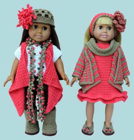 American Girl 18 Doll Crochet Clothing Patterns Fits American Girl