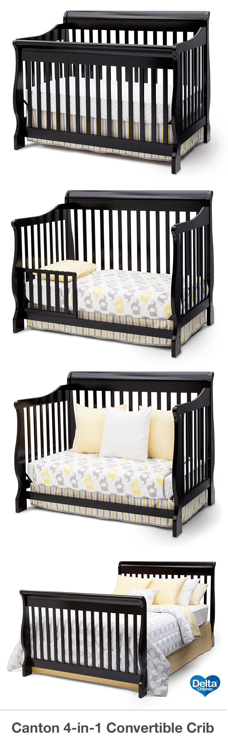 The Delta Canton 4 In 1 Convertible Crib Is A Perfect Addition To Your Full Size BedsFull Toddler