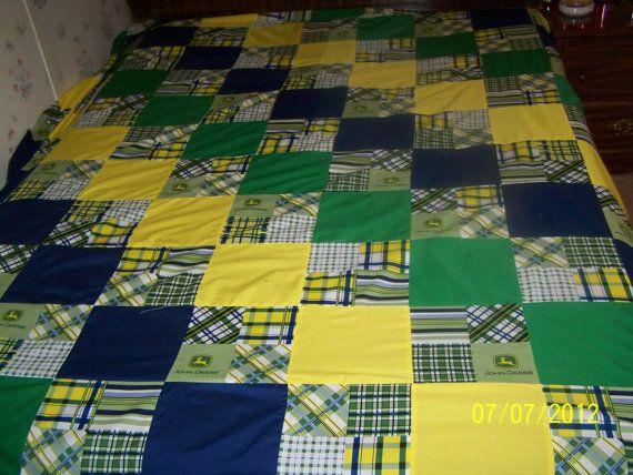 john deere quilts | John Deere Quilt by jmlagrange on Etsy | Quilt ... : john deere quilts - Adamdwight.com