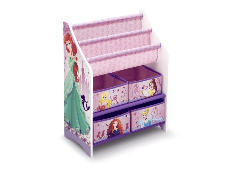 Organizador juguetero y revistero princesas disney de for Muebles disney