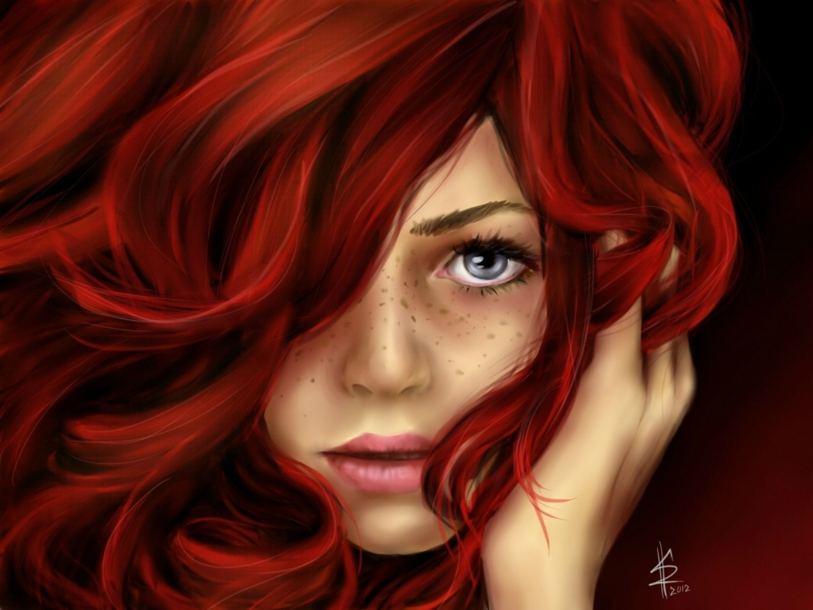 Beautiful Red Hair Girl Drawing Girls With Red Hair Red Hair Beautiful Red Hair