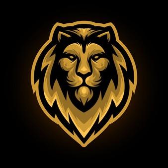 Golden Lion Head Mascot Logo Lion Artwork Lion Illustration Golden Lions