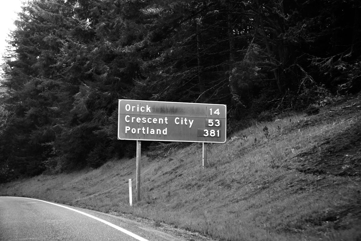 We just went on a trip to Mendocino, CA.  Started from Camas, WA then to Sunriver, OR, then down to Mendocino.  The trip back was very long, but beautiful.  This is one of the signs we saw.  YOUNG AND HUNGRY: Travel