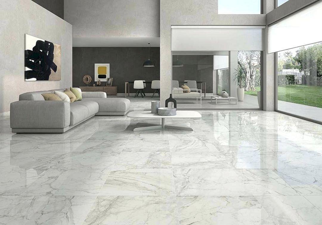 living room tiles white marble floor