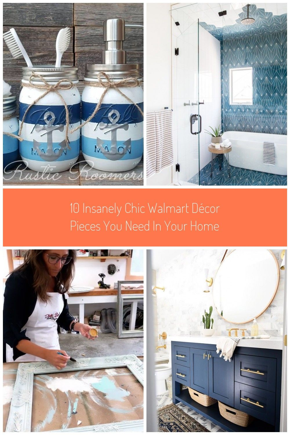10 Insanely Chic Walmart Dcor Pieces You Need In Your Home In 2020 Walmart Decor Blue Vanity Blue Accent Chairs