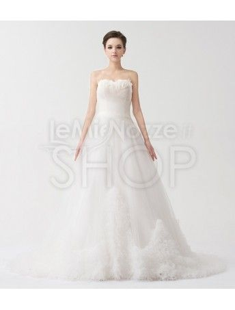 Abito da sposa principesco Mod. Agostina Vestiti Da Matrimonio Senza  Spalline 3543099fdb1