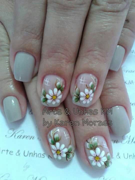 U as margaritas u as pinterest pedicura arte de - Decorador de unas ...