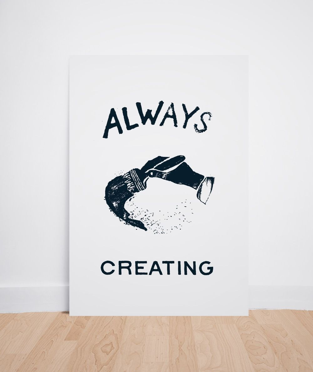 """Always Creating by Daniel Patrick Simmons - 13x19"""" giclée print on premium matte paper. Available for shipping worldwide."""