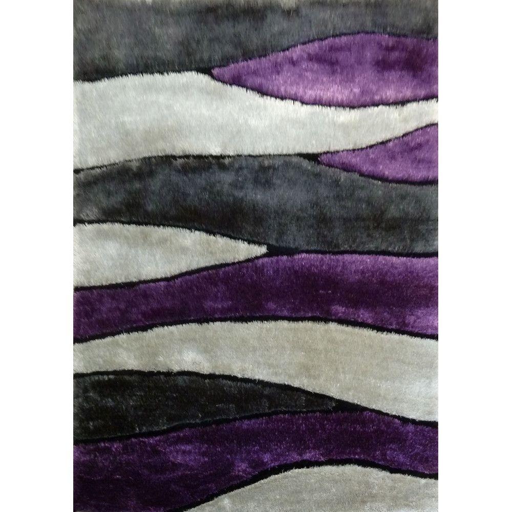 Rug Factory Plus Living Shag Purple/Gray Rug