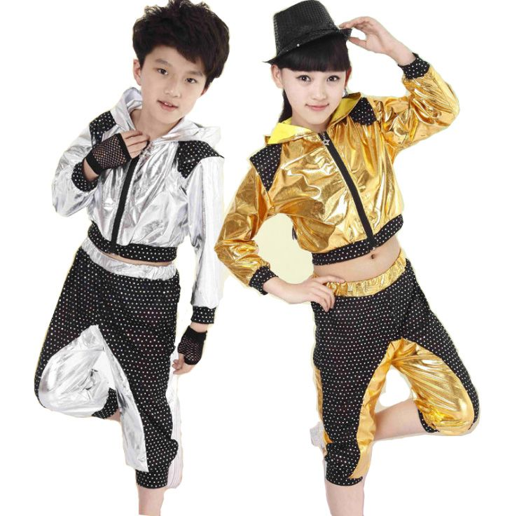 c11f18090b066 Boys Girls Sequin Ballroom Modern Jazz Hip Hop Dance Competition Costumes  Set Hoodie Top Pants for Kids Dancing Clothing Clothes #Affiliate