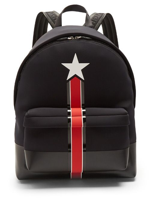 fe839f6ce2ba GIVENCHY Star And Stripe Neoprene Backpack.  givenchy  bags  leather   lining  backpacks  lace