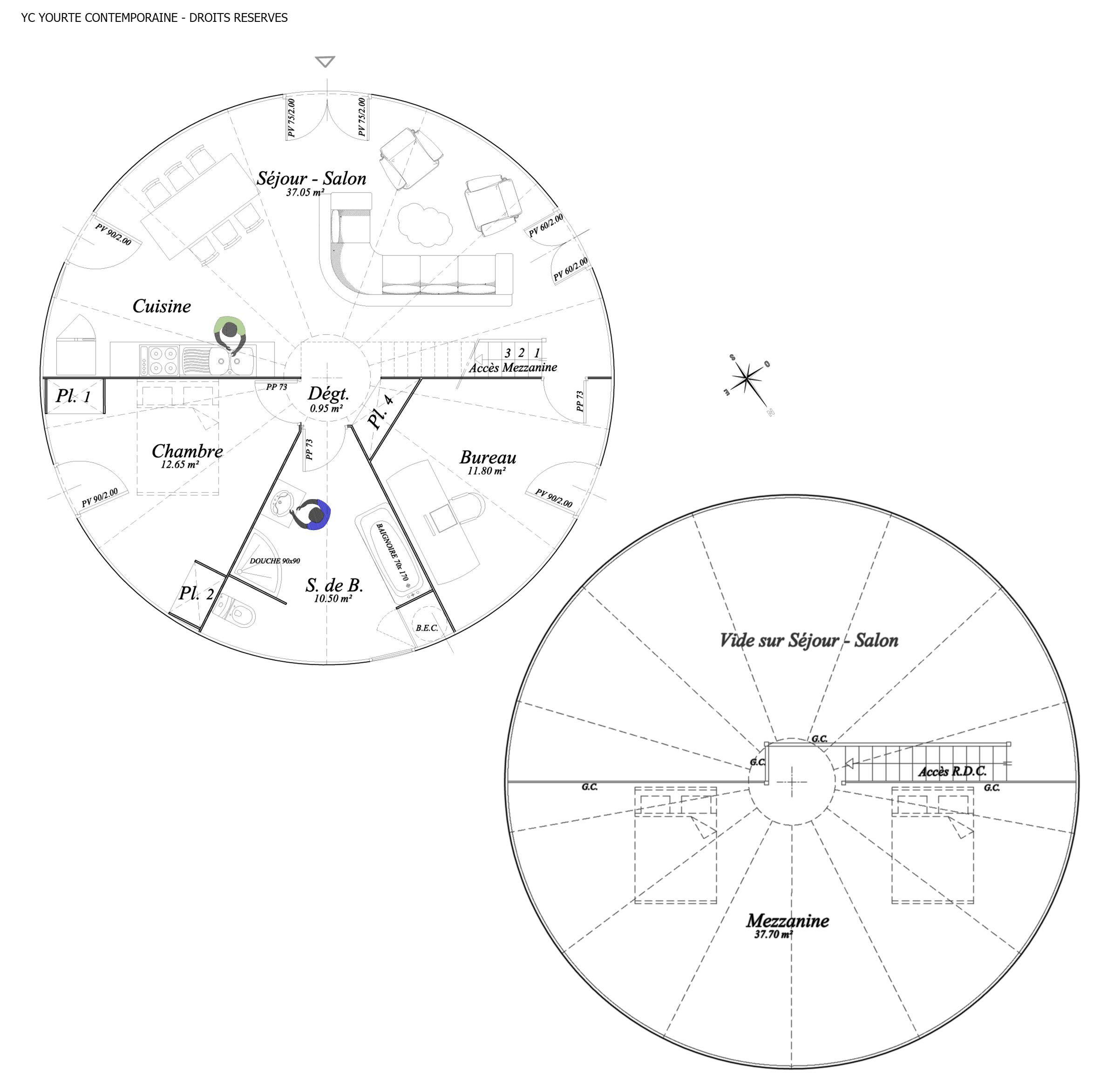 plan habitation yourte 2 362Ã 2 345 pixels iurtes pinterest