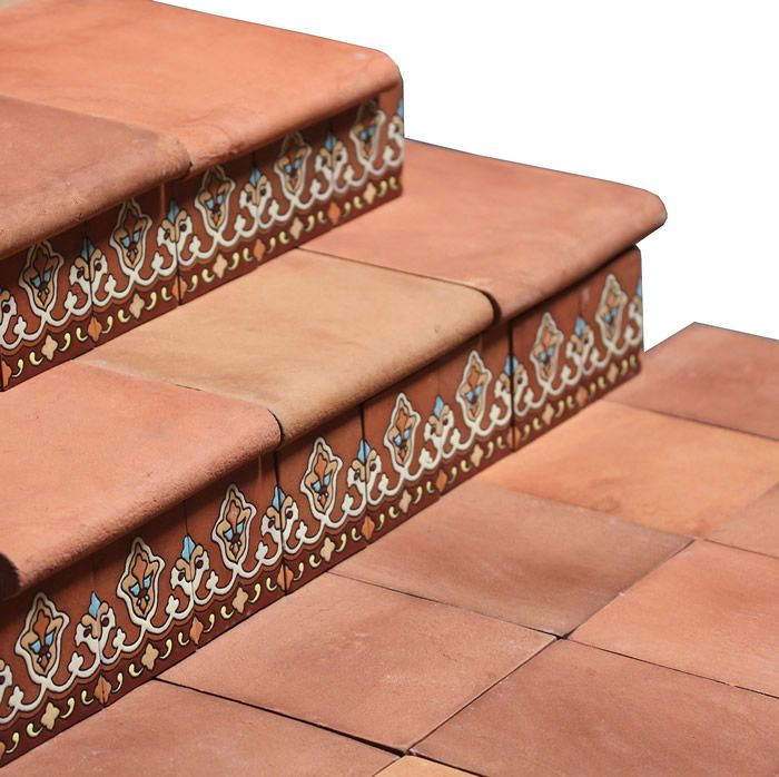 Mexican Tile 12x12 Tierra Floor Tile Stair Bullnose Mexican Tile Floor Tile Stairs Decorative Floor Tile