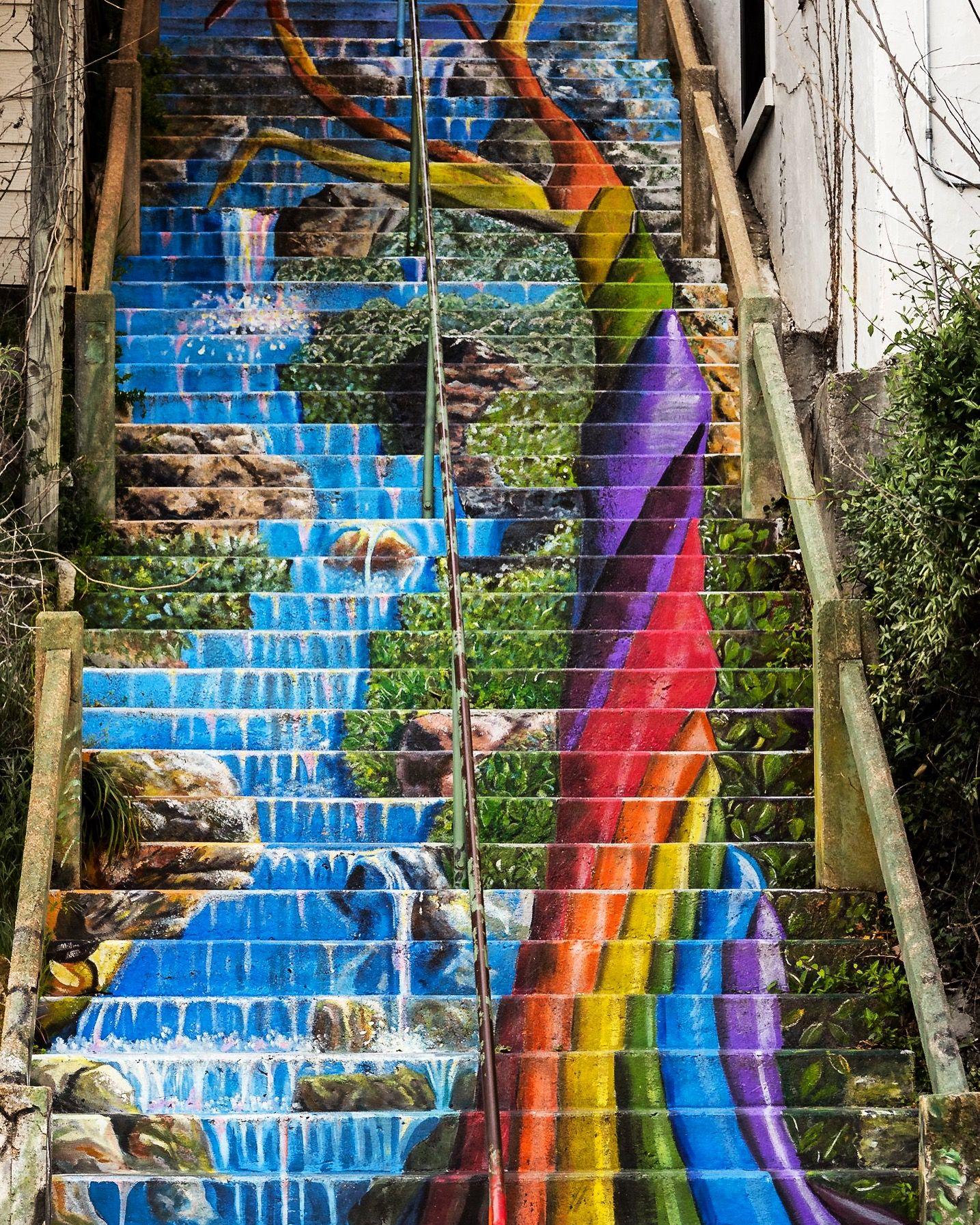 Waterfall Stairs, Eureka Springs, AR. # ...