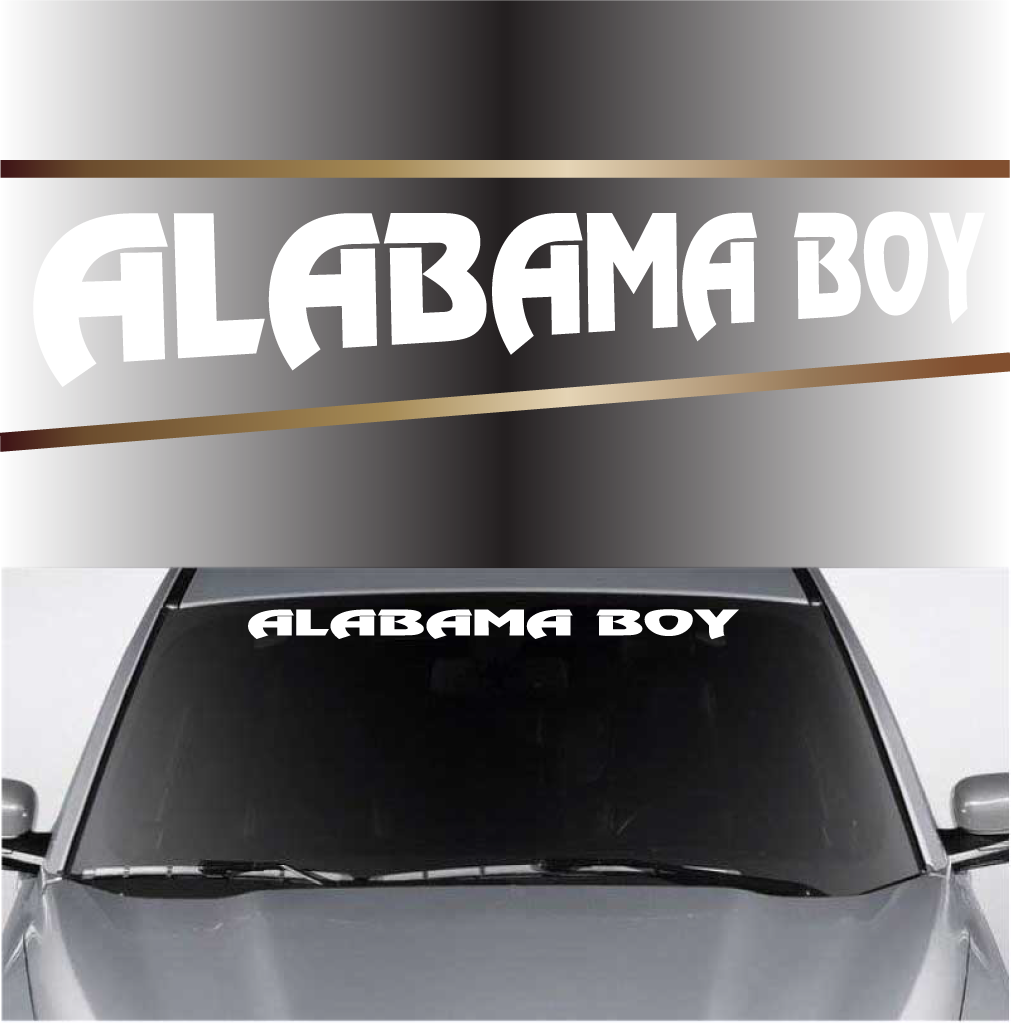 Boy Custom Windshield Banner Decals - Car windshield decals customcustom window decals