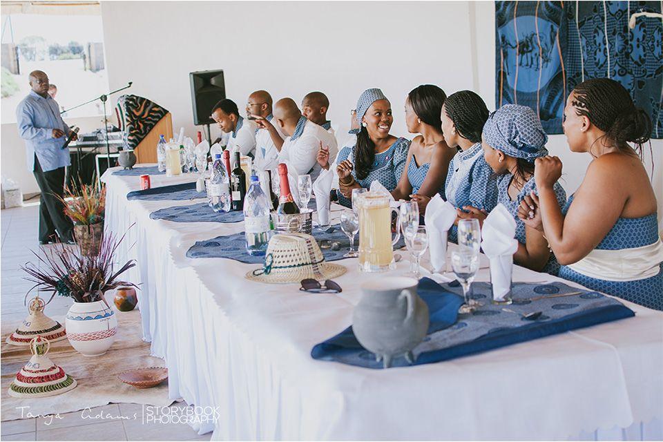 Wedding decor for a Sotho wedding.